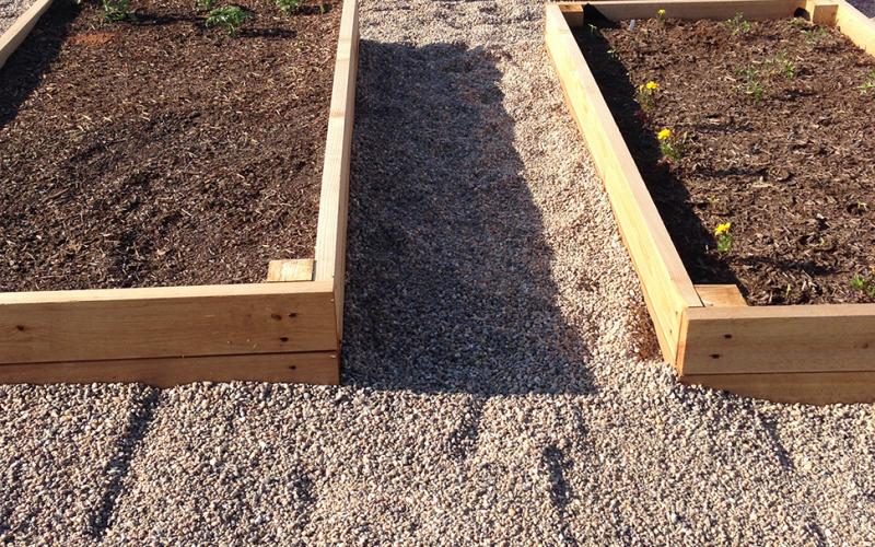 Gravel Walkway Complete Around Raised Garden Beds - AcreLife