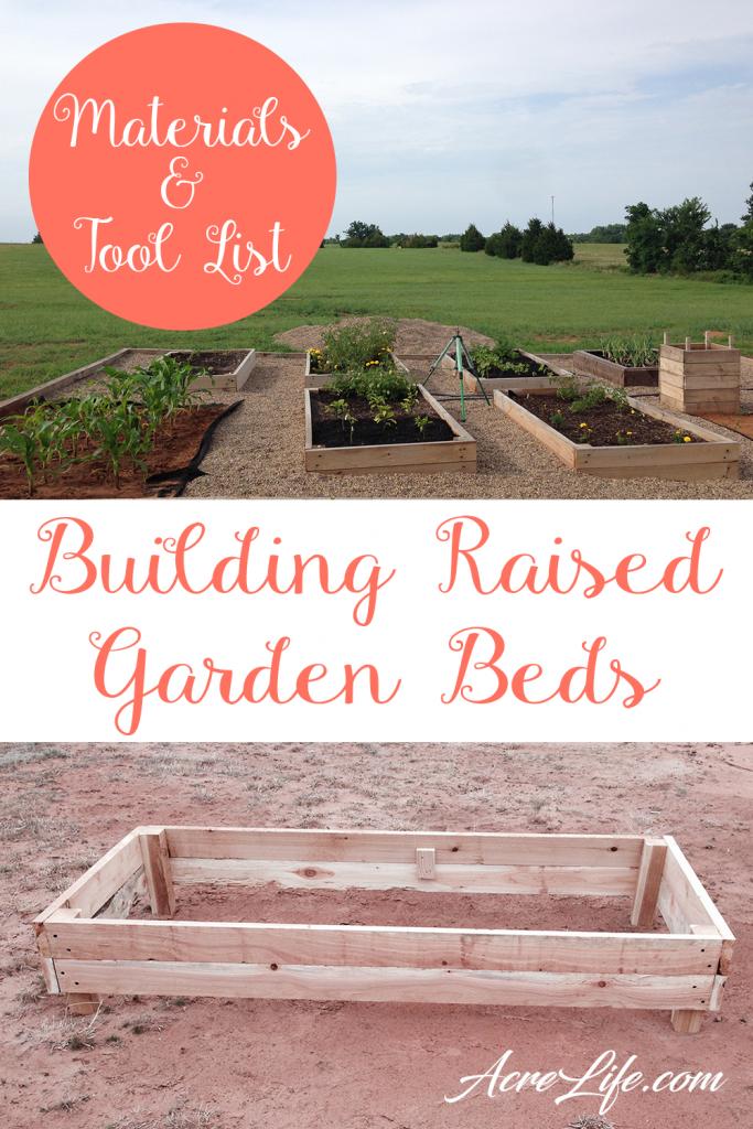 Building Raised Garden Beds - Acre Life