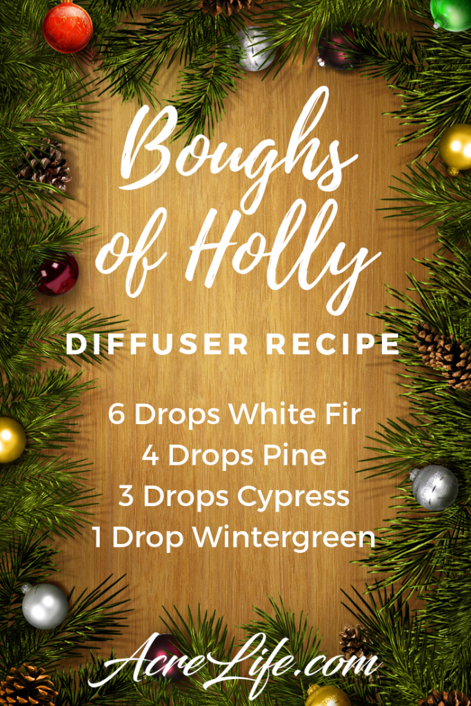 Boughs of Holly Diffuser Recipe