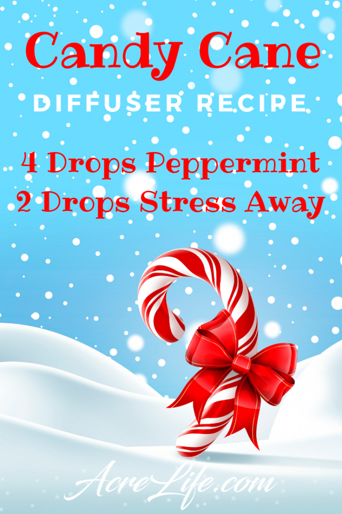 This Candy Cane Diffuser Recipe will take away the holiday stress.