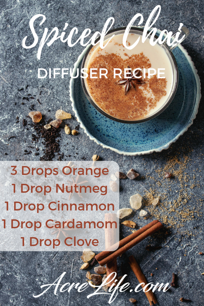 Spiced Chai Essential Oil Diffuser Recipe