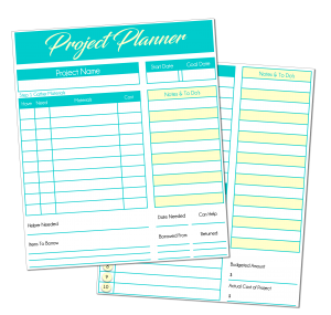 Project Planner from the Acre Life resource library