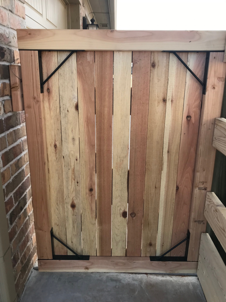 Cedar gate built with the EasyGate Hardware Kit
