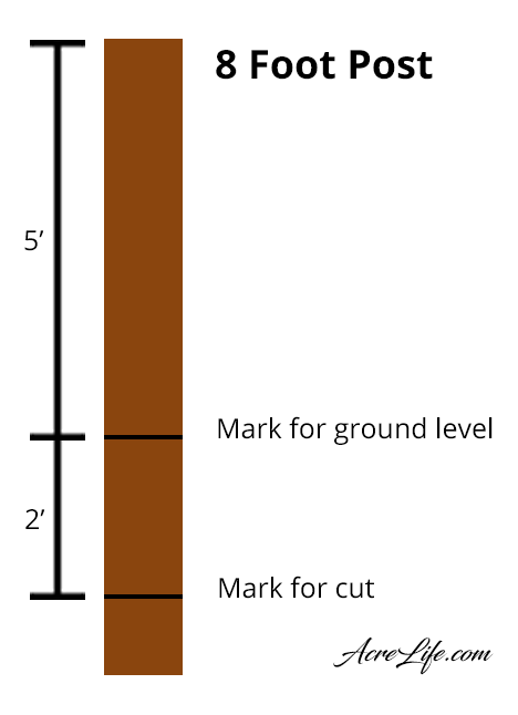 How to cut a post for a split rail fence.