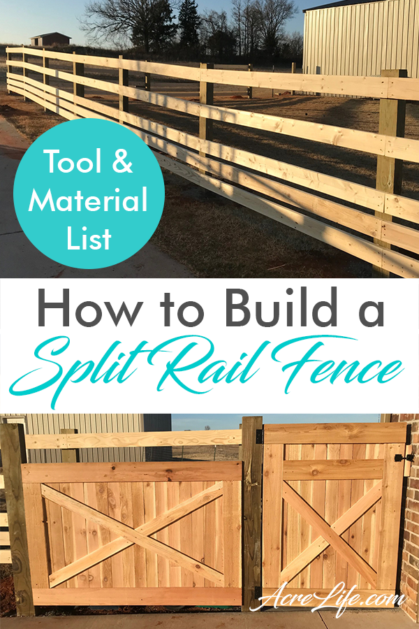 Split Rail Fence guide with tool and material list.