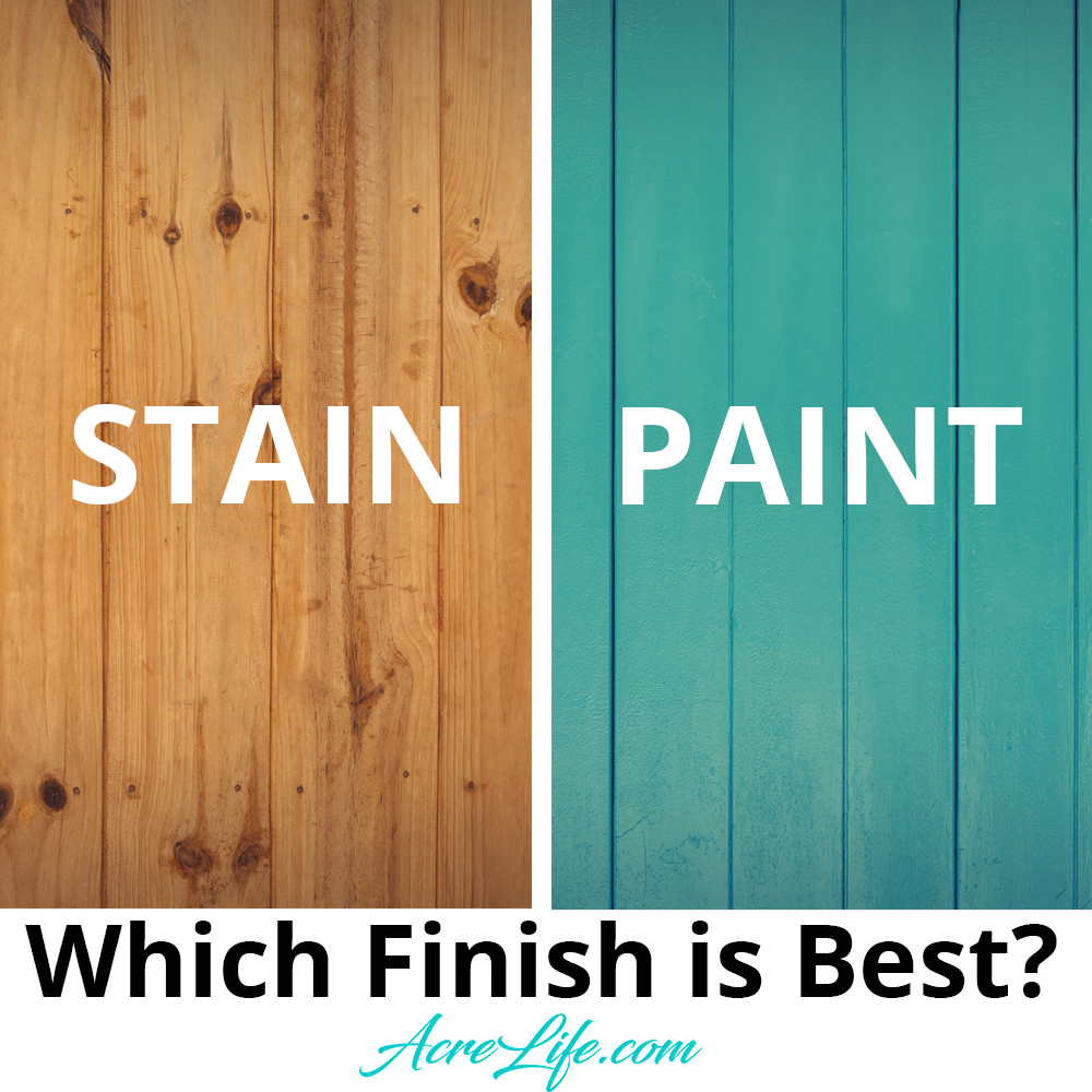 Which Finish Is Best For A New Wood Fence? Stain, Paint or Sealer