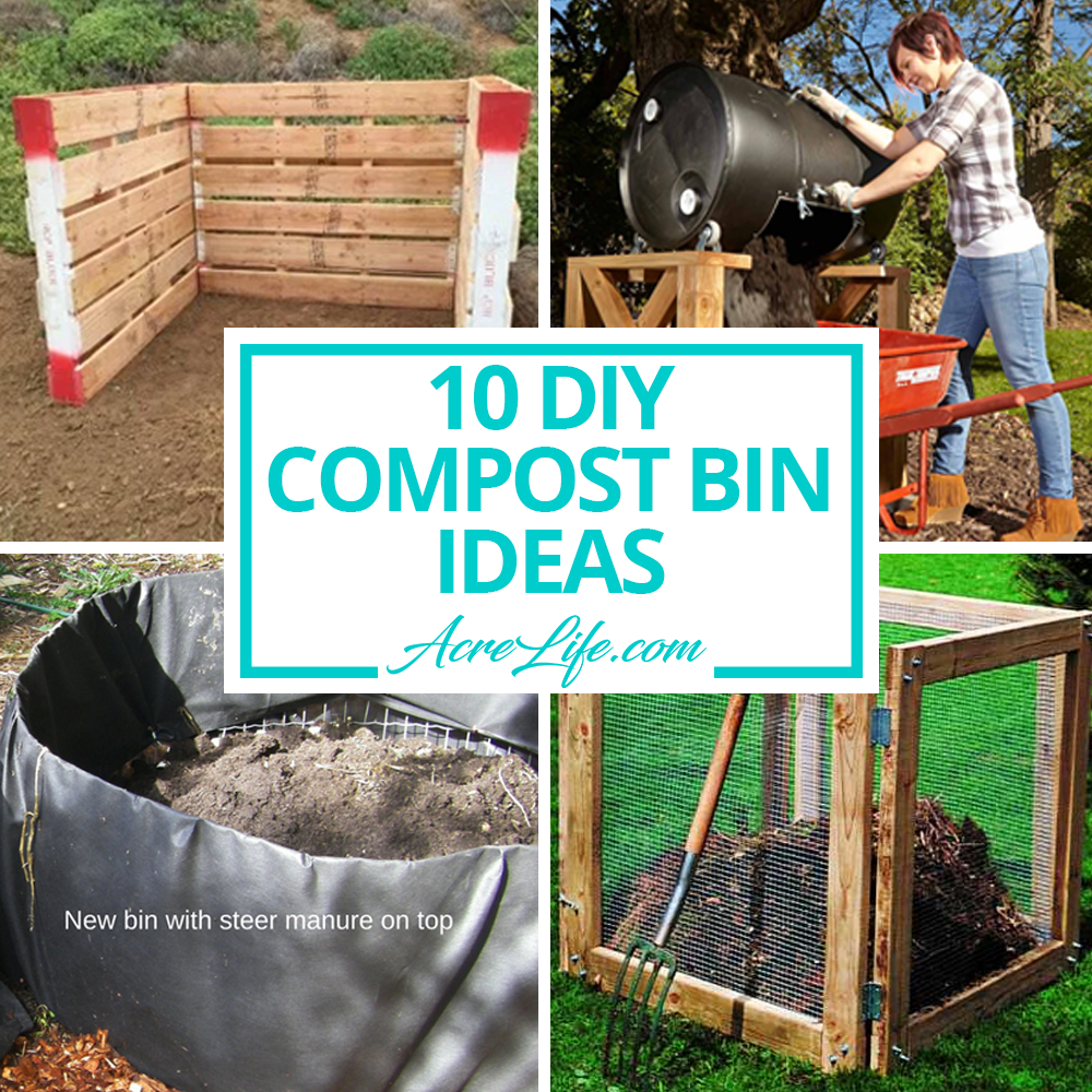 10 Diy Compost Bin Ideas Acre Life Diy Composting Bins