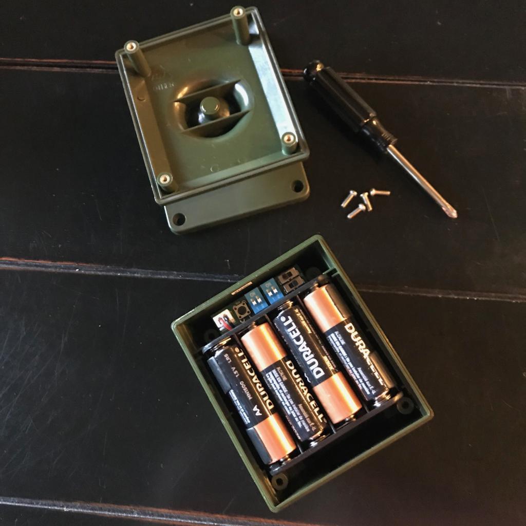 Installing batteries in the Guardline Sensor