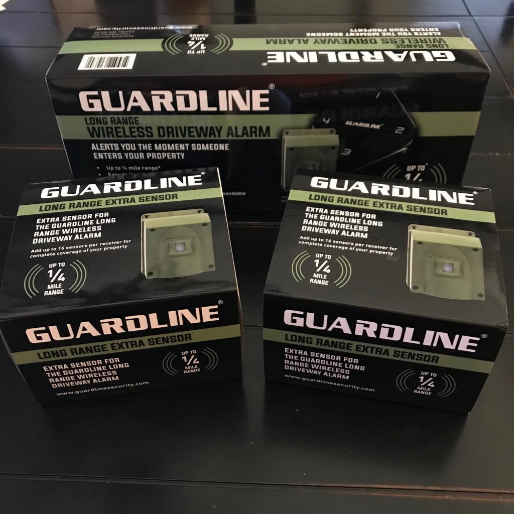 Guardline Long Range Wireless Driveway Alarm + Extra Sensors