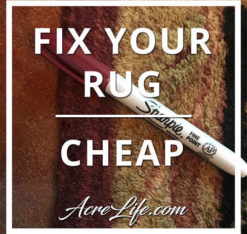 How to Fix Your Worn Rug With A Sharpie