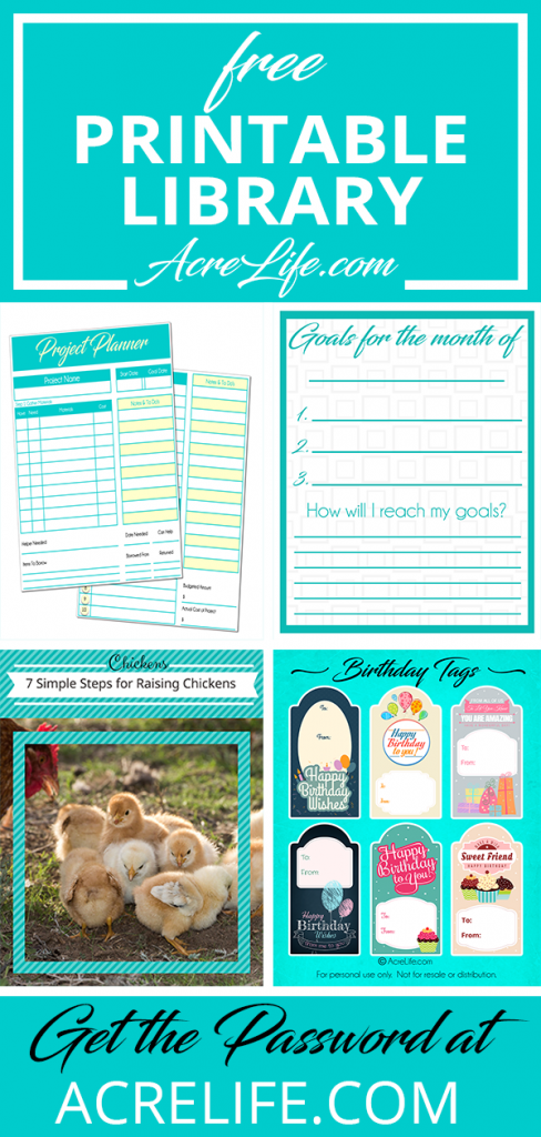 Free Printable Resource Library from Acre Life