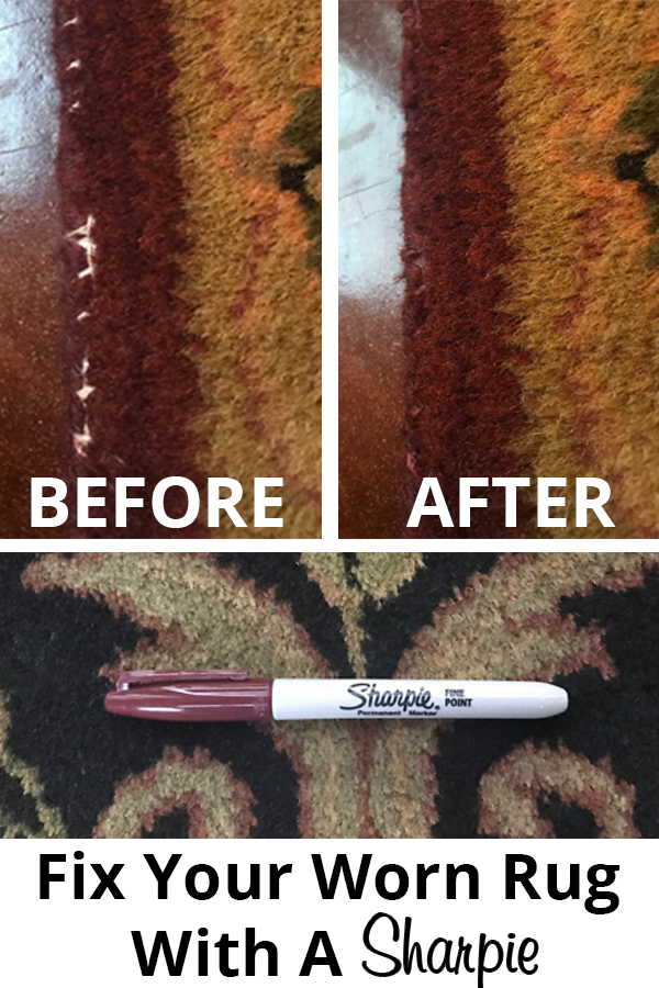 How To Fix A Worn Rug With A Sharpie