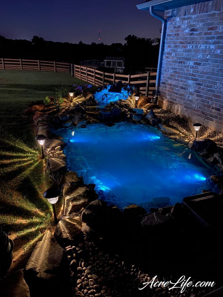 Pond Lighting Acre Life
